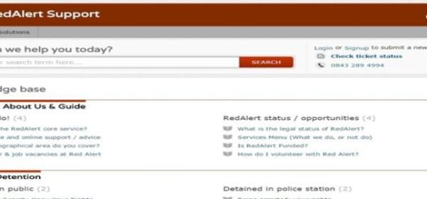 RedAlert Support Portal